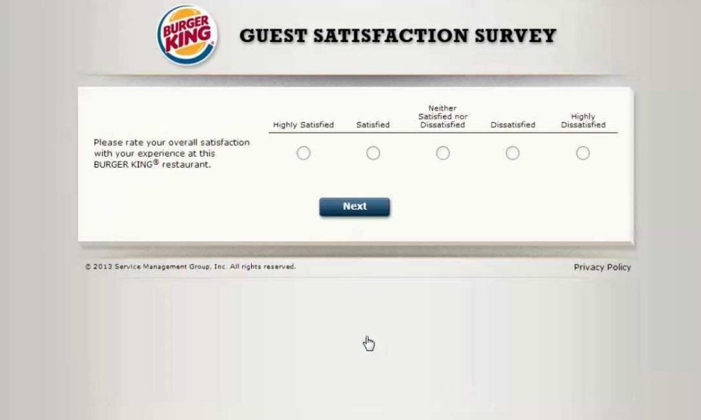 burger king survey feedback