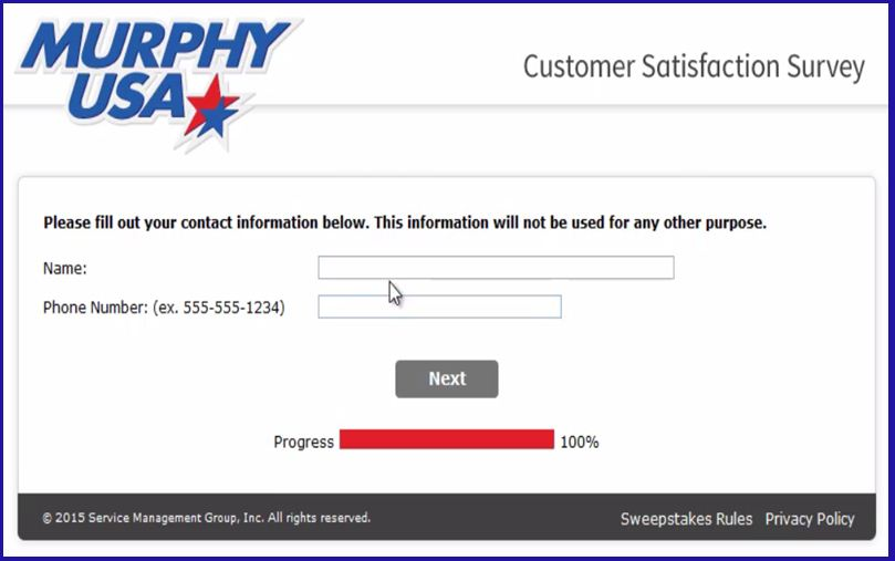 murphy usa customer satisfaction survey process