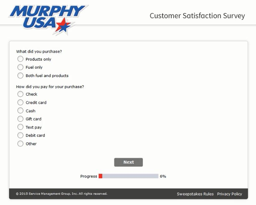 murphy usa survey steps