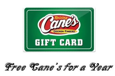 Raising Cane's Survey prize