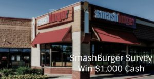 Smashburger Survey rewards