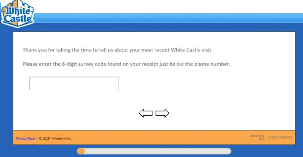 White Castle Survey code