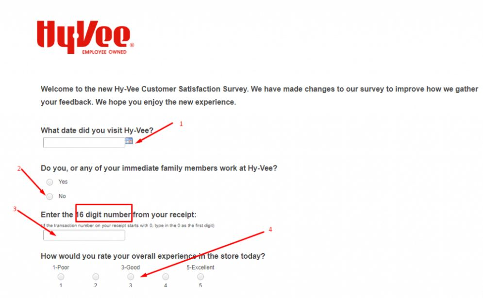 hy vee survey home page