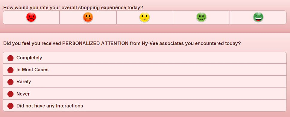 hy vee survey process