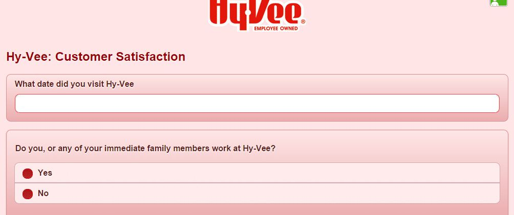 hy vee survey steps