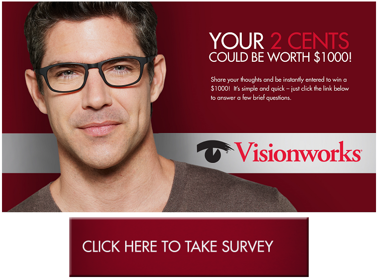 Visionworks Eyewear Customer Feedback survey