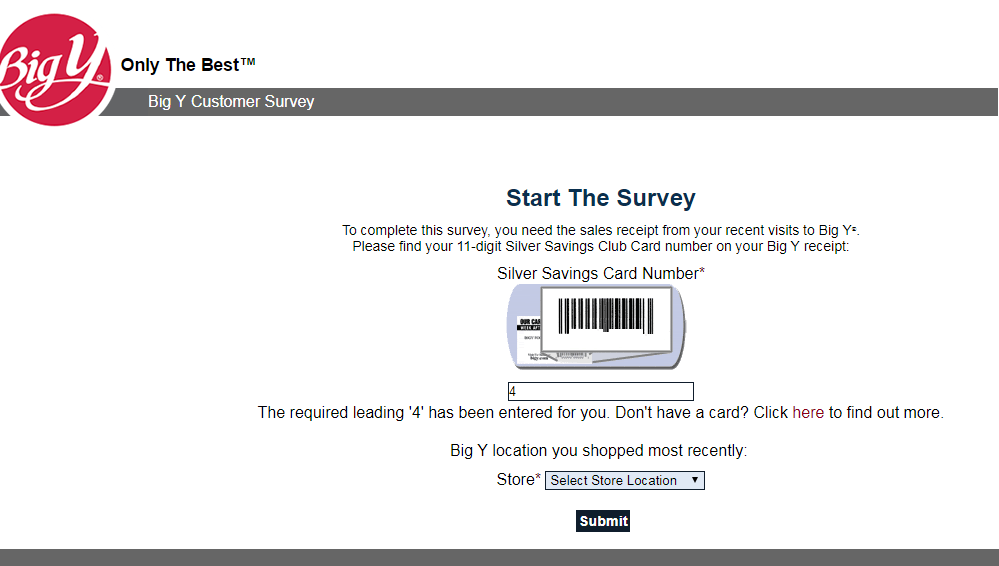 big y customer survey