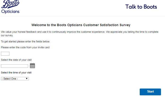 boost Opticians Customer Survey
