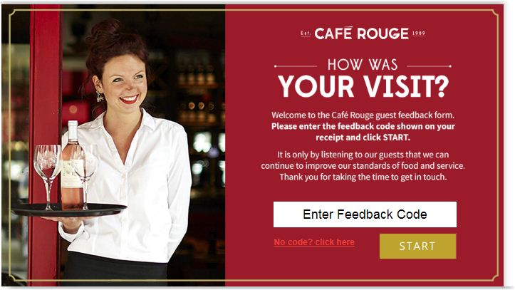 Cafe Rouge Customer Satisfaction Survey