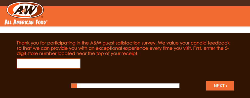 A & W Customer Satisfaction Survey