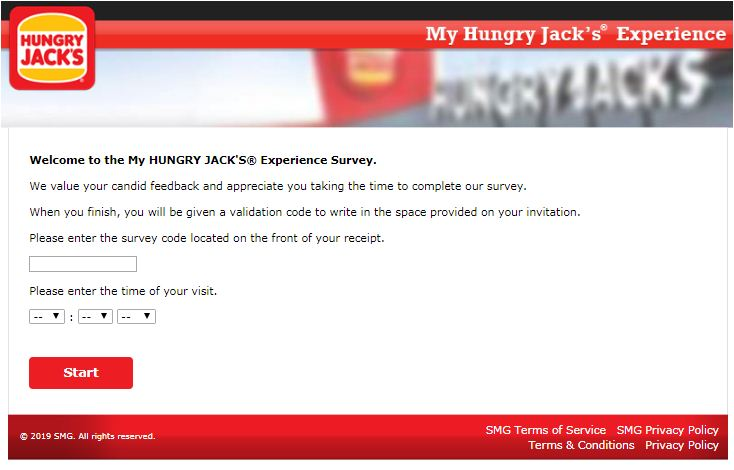 hungry jack's customer satisfaction survey