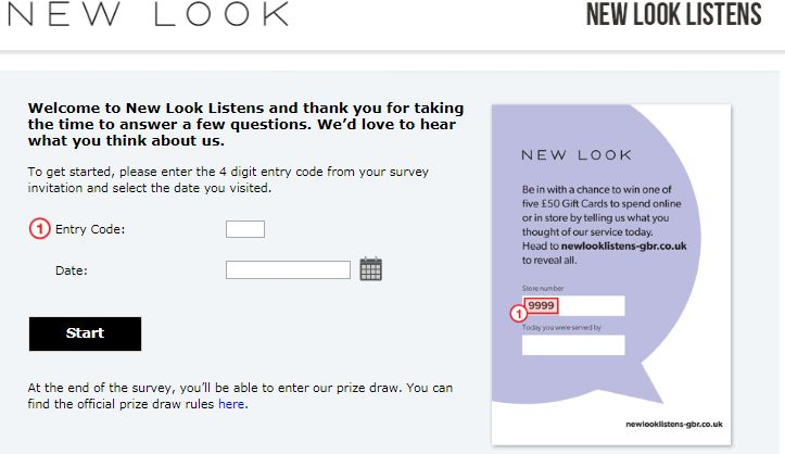 new look guest experience survey