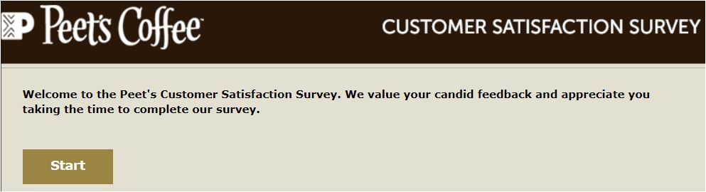 peets coffee and tea guest satisfaction survey