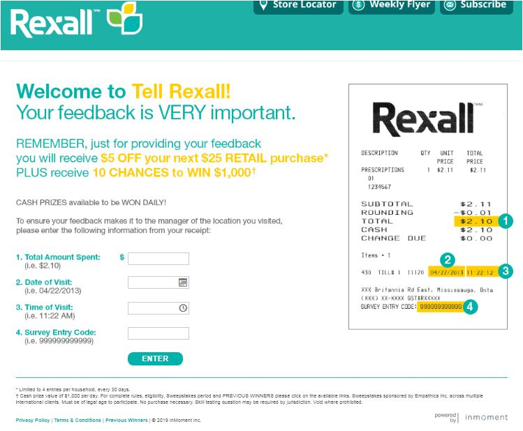 rexalla Customer feedback survey