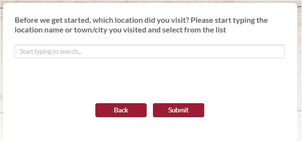 toby carvery customer feedback survey