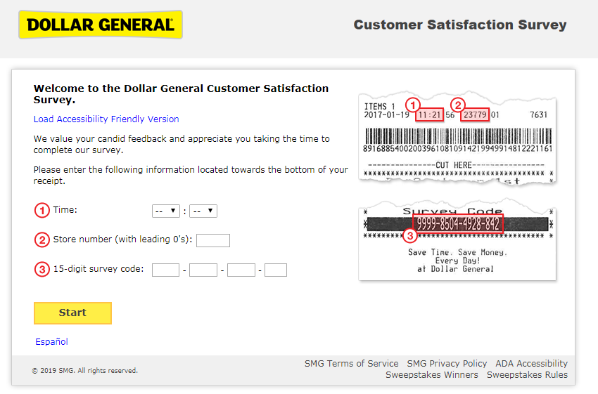 dollar general customer survey