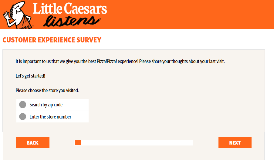 Little Caesars customer satisfaction Survey.