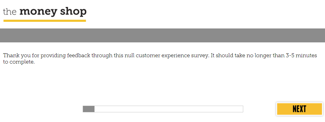 money shop customer experience survey