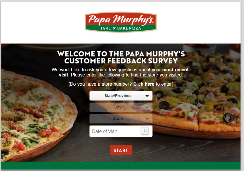 Papa Murphy customer experience survey